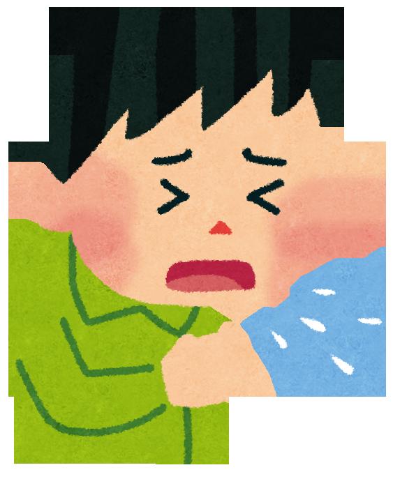 【子供が咳で吐く】夜の対処法4つ!喘息の息子に実際に効いた方法は?