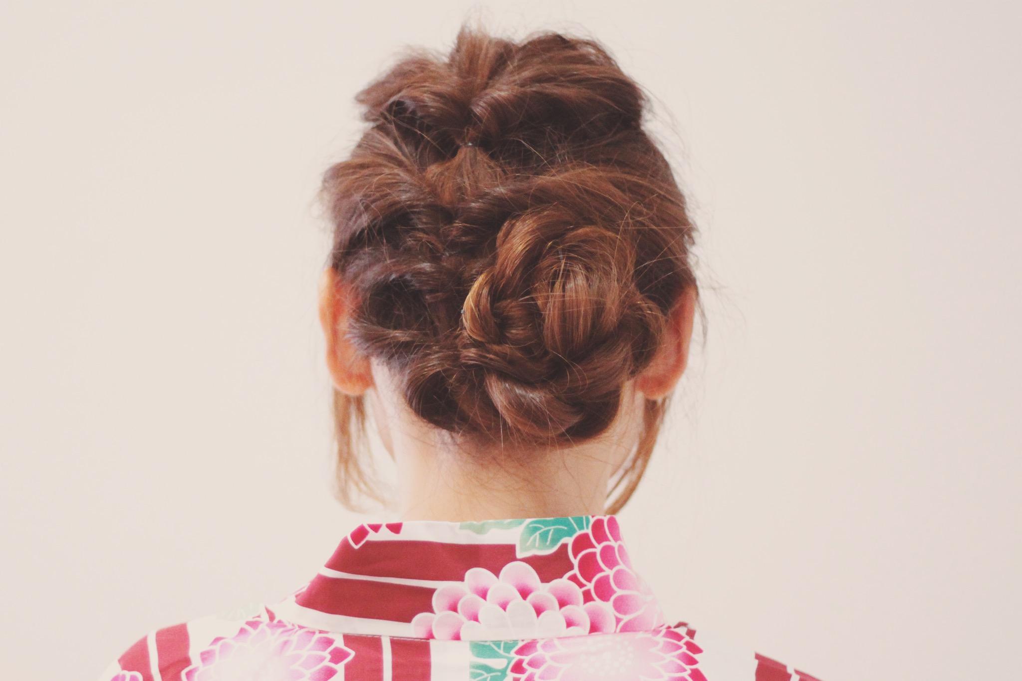 七五三のママ髪型 ボブでも簡単にできる!画像付き上品アレンジ方法
